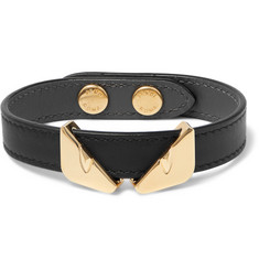 Fendi Leather and Gold-Tone Bracelet