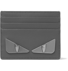 Fendi Metal Eyes Leather Cardholder