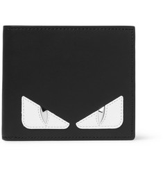 Fendi Bag Bugs Appliquéd Leather Billfold Wallet