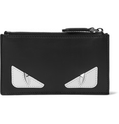 Fendi Bag Bugs Appliquéd Leather Cardholder