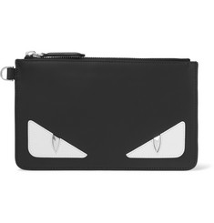 Fendi Bag Bugs Appliquéd Leather Pouch