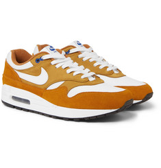 Nike - + atmos Air Max 1 Premium Retro Suede, Nubuck and Mesh Sneakers