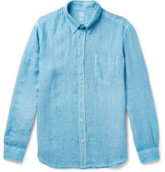 120% Button-Down Collar Linen Shirt