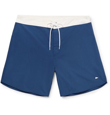 Pilgrim Ballard Long-length Colour-block Swim Shorts - Midnight blue Ezo1B