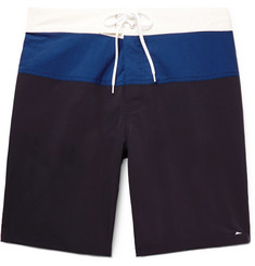 Pilgrim Surf + Supply Ballard Long-Length Colour-Block Swim Shorts