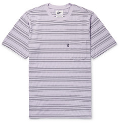 Pilgrim Surf + Supply Christobal Striped Cotton-Jersey and Piqué T-Shirt