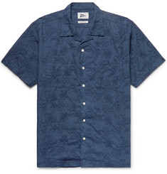 Pilgrim Surf + Supply Vincent Camp-Collar Embroidered Cotton-Poplin Shirt