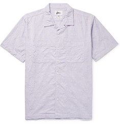 Pilgrim Surf + Supply - Vincent Camp-Collar Embroidered Cotton-Poplin Shirt