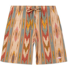 Battenwear Active Lazy Printed Linen and Cotton-Blend Drawstring Shorts