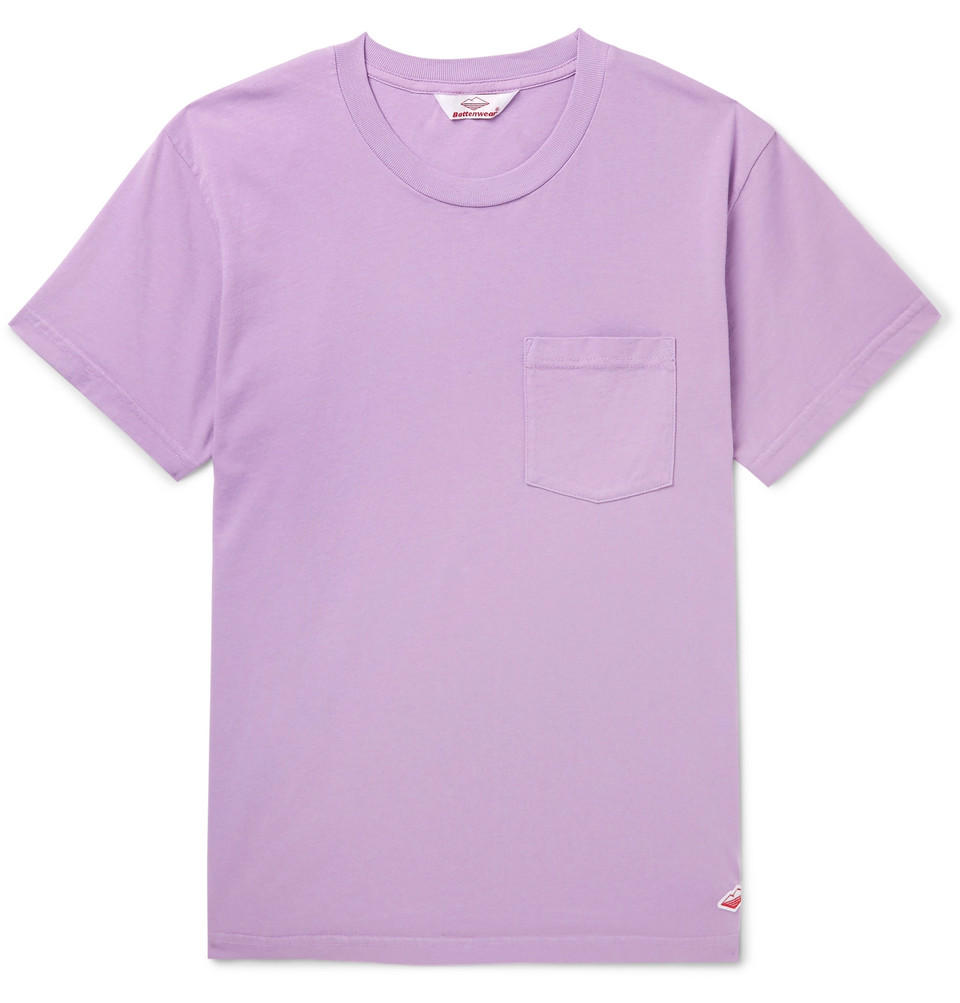 Cotton-jersey T-shirt - Purple