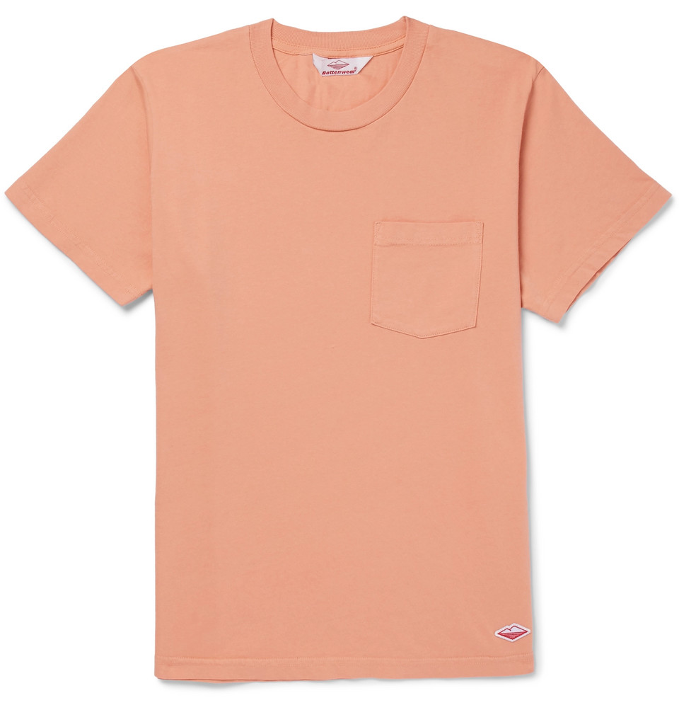 Cotton-jersey T-shirt - Peach
