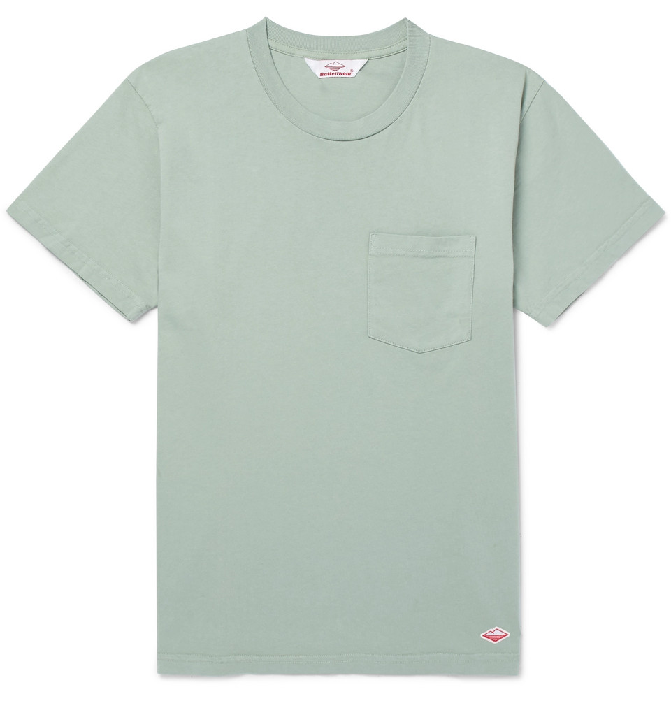 Cotton-jersey T-shirt - Mint