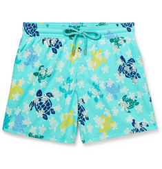 Vilebrequin Moorise Mid-Length Glow-In-The-Dark Printed Swim Shorts