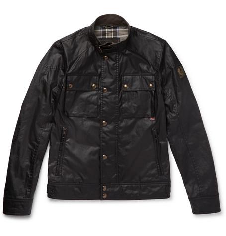Black Belstaff Jacket Racemaster Waxed cotton Aq7wH78