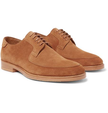 MCCAFFREY Suede Derby Shoes in Tan