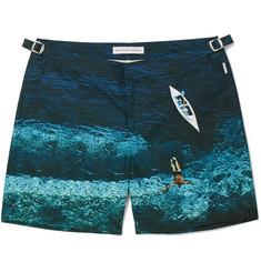 Orlebar Brown - Bulldog Mid-Length Printed Swim Shorts