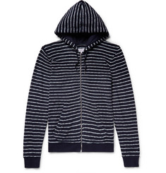 Orlebar Brown Thurloe Striped Cotton-Terry Zip-Up Hoodie