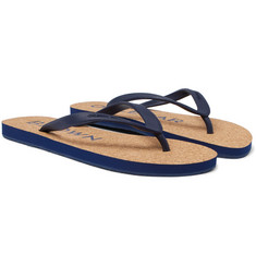 Orlebar Brown Haston Cork and Rubber Flip Flops