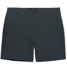 Theory Slim-Fit Mid-Length Printed Swim Shorts