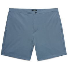 Theory - Slim-Fit Mid-Length Printed Swim Shorts