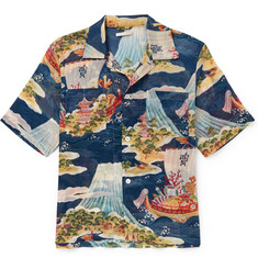 Our Legacy Crossing The Seven Seas Camp-Collar Printed Cotton Shirt