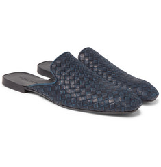 Bottega Veneta Intrecciato Leather Backless Slippers
