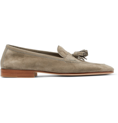 Portland Leather-trimmed Suede Tasselled Loafers Edward Green FUNxf