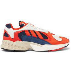 adidas Originals Yung 1 Suede and Mesh Sneakers