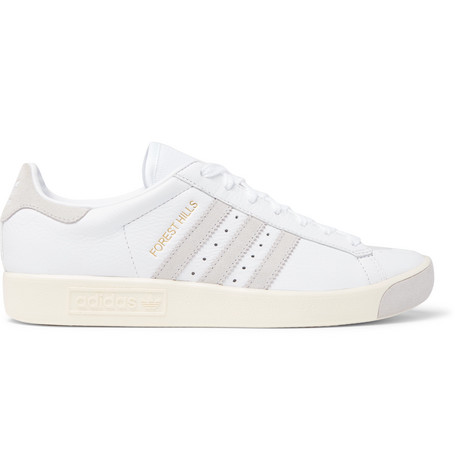 1cc0b700704e5b ADIDAS ORIGINALS FOREST HILLS FULL-GRAIN LEATHER AND MESH SNEAKERS