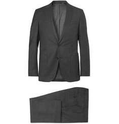 Hugo Boss Charcoal Nalton/Ben Slim-Fit Mélange Virgin Wool Suit