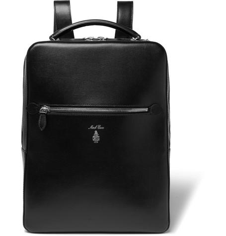 4d2706bd6 Mark Cross Alexander Cross-Grain Leather Backpack - Black - One ...