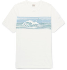 Faherty Printed Slub Cotton-Jersey T-Shirt