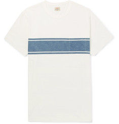 Faherty Slim-Fit Indigo-Dyed Striped Slub Cotton-Jersey T-Shirt