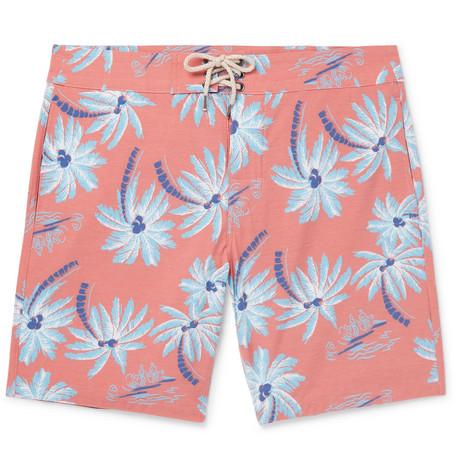 Beacon Slim-fit Long-length Printed Swim Shorts