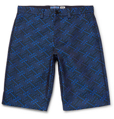 Blue Blue Japan Slim-Fit Satin-Jacquard Shorts