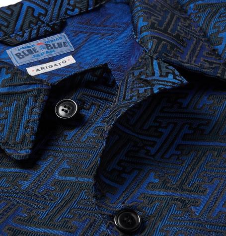 Satin Jacquard Jacket by Blue Blue Japan