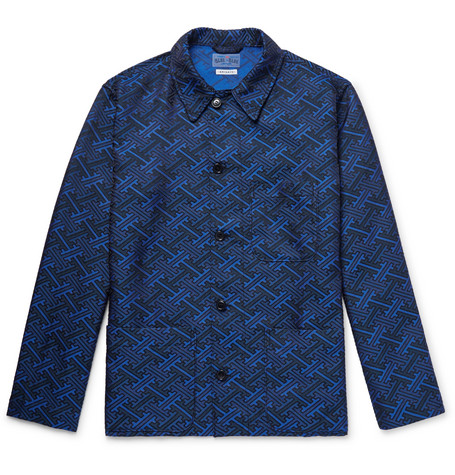 BLUE BLUE JAPAN Satin-Jacquard Jacket