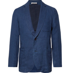Blue Blue Japan - Slim-Fit Unstructured Indigo-Dyed Linen-Twill Blazer