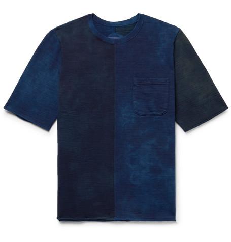 BLUE BLUE JAPAN Indigo-Dyed Loopback Cotton-Jersey Sweatshirt