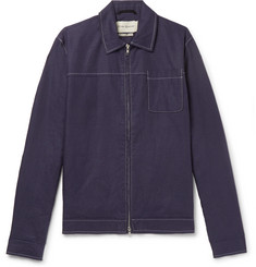 Oliver Spencer Buck Linen Bomber Jacket