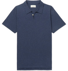 Oliver Spencer Hawthorn Mélange Cotton-Jersey Polo Shirt