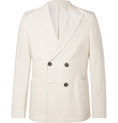 Oliver Spencer - Cream Double-Breasted Cotton Suit Jacket