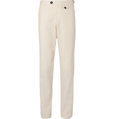 Oliver Spencer Cream Cotton Suit Trousers