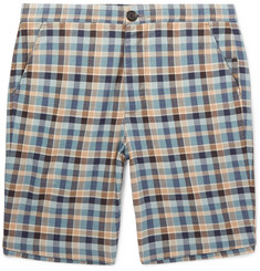 Oliver Spencer Checked Cotton Drawstring Shorts