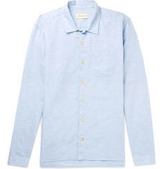 Oliver Spencer Cotton and Linen-Blend Shirt