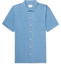 Oliver Spencer Indigo-Dyed Cotton-Jersey Shirt