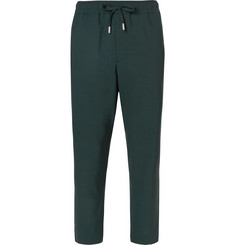Mr P. Slim-Fit Cropped Stretch Virgin Wool Drawstring Trousers