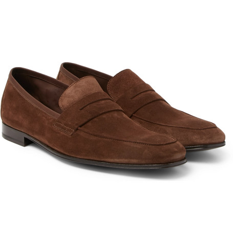 Glynn Suede Penny Loafers by Paul Smith
