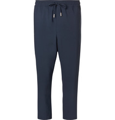 Mr P. - Slim-Fit Cropped Stretch Virgin Wool Drawstring Trousers