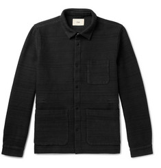 Folk Textured Cotton-Jersey Jacket